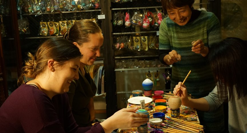 Sasebo Top Painting Experience & Spinning Experience